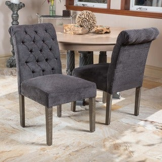 Christopher Knight Home Dinah Dark Grey Dining Chairs (Set of 2)