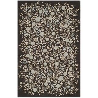 Martha Stewart Watercolor Garden Inkwell Wool Rug (7'9 x 9'9)
