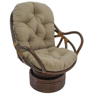 Blazing Needles Swivel Rocker 48-inch Twill Cushion