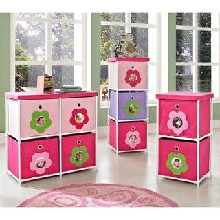 Altra Kids' Pink Flower Bin Storage System