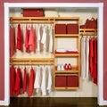 John louis 12 Inch Deep Simplicity Closet System Honey Maple