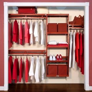 John Louis Deep Simplicity Red Mahogany 12-inch Closet System