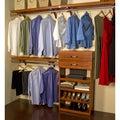 John Louis 16-inch Deep Carmel Finish Woodcrest Closet System