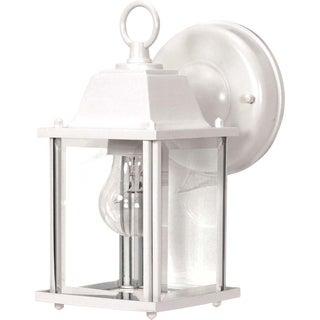 Nuvo 1-light White Cube Wall Lantern