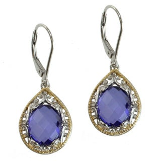 Michael Valitutti Two-tone Purple Quartz Earrings