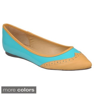 Hailey Jeans Co. Women's 'Mila-10' Patent Almond Toe Flats