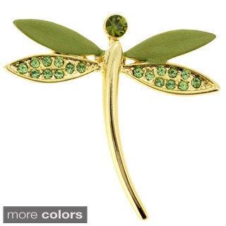 Dragonfly Tag Swarovski Crystal Pin Brooch