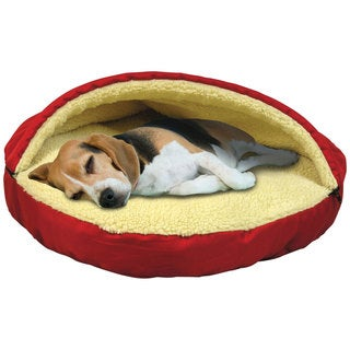 Plush Pet Cave &amp; Bed