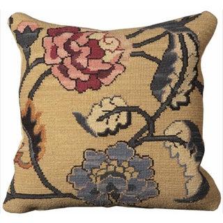 Nourison Mina Victory Floral Patterned 20 x 20 Pillow
