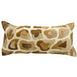 Mina Victory Cowhyde Cobble Stone Amber 14 x 30-inch Decorative Pillow by Nourison