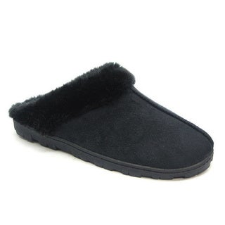 Blue Children's 'K-Yola' Cuffed Slippers in Black