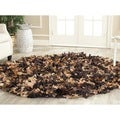 Safavieh Hand-woven Chic Brown Shag Rug (4' Round)