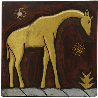 Hand-Carved 'Giraffe' Wall Panel (Indonesia)