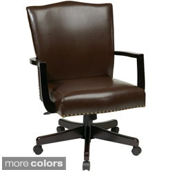Inspired by Bassett Morgan Faux Leather Manager's Chair