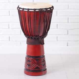 Celtic Labyrinth Full Size Djembe Drum (Indonesia)