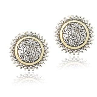DB Designs 18k Gold Over Silver 1/10ct TDW Diamond Sunburst Earrings (J, I3)