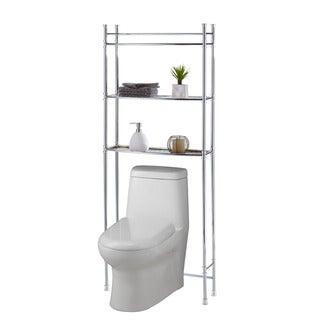 Chrome Bathroom Shelf Space Saver