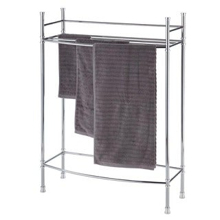 Chrome Three Rack Towel Stand