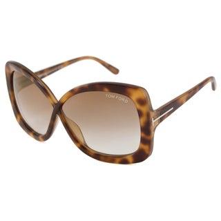 Tom Ford Women's TF0227-53P Calgary Rectangular Sunglasses