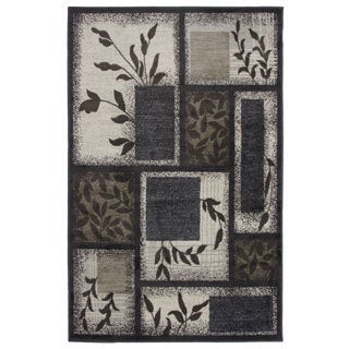 Area Rug Spring Meadows Gray (6-feet, 6-inches x 9-feet, 5-inches)