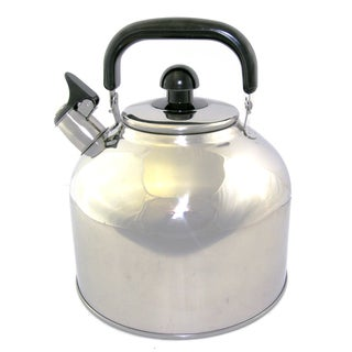 Big 6.3-liter 7-quart Stainless Steel Whistling Tea Kettle Pot with Infuser