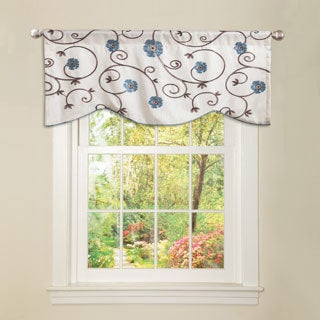 Lush Decor Blue &#39;Royal Garden&#39; Valance