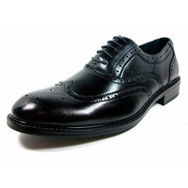 Delli Aldo Men's Wing Tip Dress Oxford Shoes