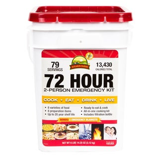 Augason Farms Emergency 72-hour Two Person Food Supply (4 Gallons)
