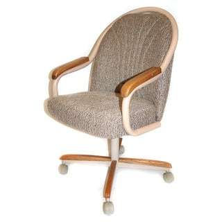 Casual Dining Cushion Swivel-and-Tilt Rolling-caster Chair