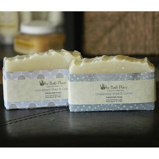 The Bath Place Unscented Shea and Cocoa Butter Handcrafted Soap Duo