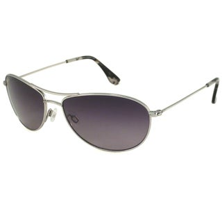 Maui Jim Unisex 'Baby Beach' GS245 17 Silver Titanium Polarized Aviator Sunglasses