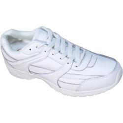 Men's Genuine Grip Footwear Slip-Resistant Jogger White Leather