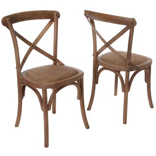 Christopher Knight Home Smith Light Brown Cross-back Dining Chairs (Set of 2)