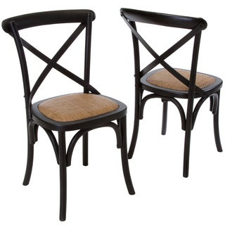 Christopher Knight Home Smith Black Cross-back Dining Chairs (Set of 2)