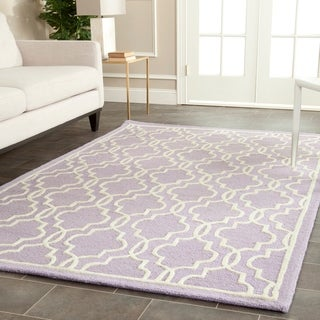 Safavieh Handmade Cambridge Moroccan Lavender Wool Area Rug (9' x 12')