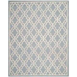 Safavieh Handmade Cambridge Moroccan Silver Cotton-Canvas Wool Rug (8' x 10')