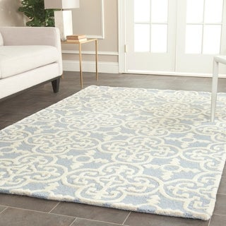 Safavieh Handmade Moroccan Cambridge Light Blue 100-percent Wool Rug (9' x 12')