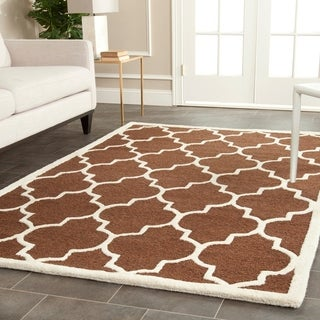 Safavieh Handmade Cambridge Moroccan Dark Brown Wool Rectangular Rug (9' x 12')