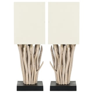 Safavieh Aspen White Washed Wood Branch Table Lamps (Set of 2)