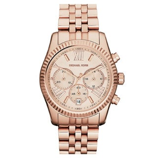 Michael Kors Women's MK5569 'Lexington' Rose Gold-Tone Watch