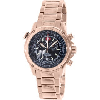 Swiss Precimax Men's Squadron Pro Rose Gold Steel Chronograph Watch