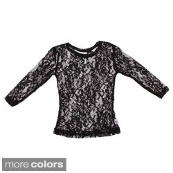 Andee Lew Girl's Lace Long Sleeve Shirt