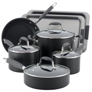 Anolon Advanced Hard-anodized Nonstick Grey 9-piece Cookware Set and 2-piece Bakeware Set