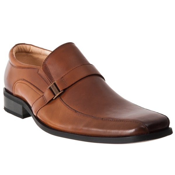 Steve Madden Men's 'Kickback' Tan Leather Buckled Loafers