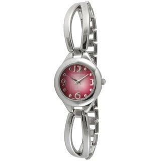 Timetech Women's Rose Dial Half Bangle Watch