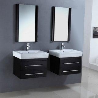 Ceramic Sink Top 24-inch Single Sink Dual Bathroom Vanity Set