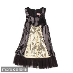 Paulinie Collection Girls Sequined Sleeveless Dress