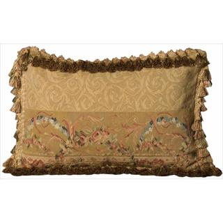 Mina Victory Aubusson Damask Floral Accent Pillow