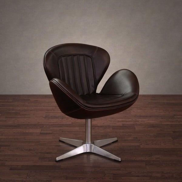 Amelia Vintage Tobacco Leather Swivel Chair
