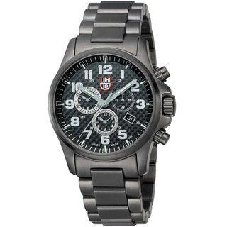 Luminox Men's A.1942 'Atacama' Carbon Fiber Dial Black Stainless Steel Quartz Watch